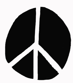 drawingof peace sign
