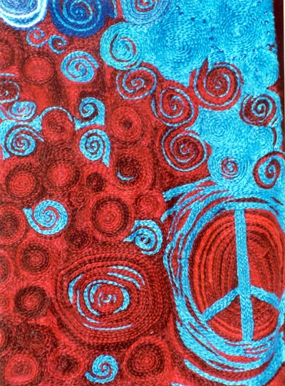 peace emboidery