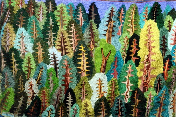 trees embroidery
