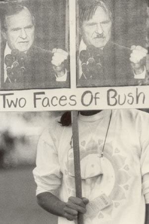 two faces of bush