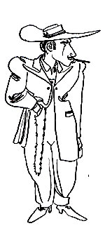 drawing of zuit suit by John Seneres